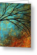 Abstract Landscape Art Passing Beauty 4 Of 5 Greeting Card by Megan Duncanson
