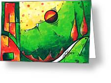 Abstract Pop Art Original Painting Greeting Card by Megan Duncanson
