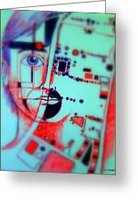 Abstract Thought Greeting Card by Paulo Zerbato