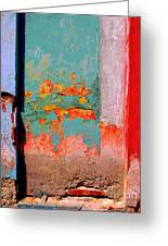 Abstract Wall By Michael Fitzpatrick Greeting Card by Olden Mexico