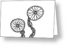 Abstract Wheels Greeting Card by Karl Addison