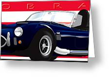 Ac Cobra Greeting Card by Brian Gibbs