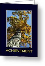 Achievement Inspirational Poster Art Greeting Card by Christina Rollo