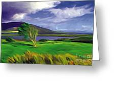 Achill Island Ireland  Sunny Greeting Card by Bob Salo