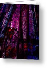 Acid Rain With Red Flowers Greeting Card by Rachel Christine Nowicki