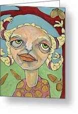 Acorns Greeting Card by Michelle Spiziri