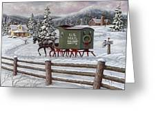 Across The Miles Greeting Card by Richard De Wolfe