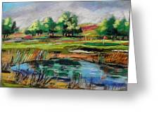 Across The Water Hazard Greeting Card by John  Williams