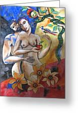 Adam And Eve Greeting Card by Guri Stark