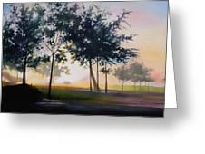 Adam-ondi-ahman Sunrise Greeting Card by Lester Nielsen