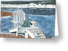 Adirondack Chair Greeting Card by Debbie DeWitt