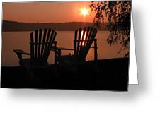 Adirondack Chairs-1 Greeting Card by Michael Mooney
