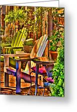 Adirondack Chairs Greeting Card by Dale Stillman