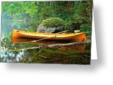 Adirondack Guideboat Greeting Card by Frank Houck