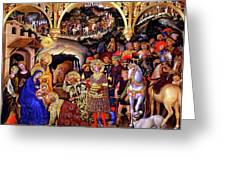 Adoration of the Kings Greeting Card by Gentile da Fabriano
