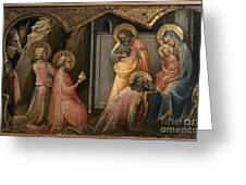 Adoration Of The Kings Greeting Card by Granger