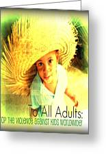 Adults Only Greeting Card by Fania Simon