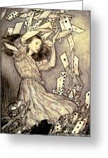 Adventures In Wonderland Greeting Card by Arthur Rackham