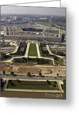 Aerial Photograph Of The Pentagon Greeting Card by Stocktrek Images