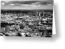 Aerial View Of London 6 Greeting Card by Mark Rogan