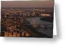 Aerial View Of Washington, D.c Greeting Card by Kenneth Garrett