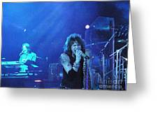 Aerosmith-steven Tyler-00107 Greeting Card by Gary Gingrich Galleries