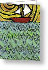 Afloat On The Bubbling Sea Greeting Card by Wayne Potrafka