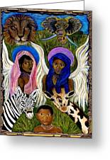 African Angels Greeting Card by The Art With A Heart By Charlotte Phillips