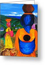 African Life 2919 Greeting Card by Jessie Meier