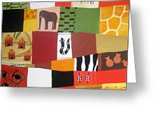 African Matrix Greeting Card by Pat Barker