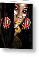 African Princess Greeting Card by Kia Kelliebrew