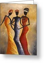 African Queens Greeting Card by Evon Du Toit