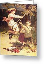 After School Greeting Card by Frederick Morgan
