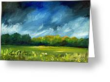After Spring Rain Greeting Card by Linda L Martin