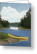 After The Rapids Greeting Card by Kenneth M  Kirsch