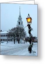 After The Snowfall Greeting Card by Suzanne DeGeorge