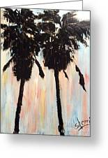 Afternoon Palms Greeting Card by Sherri Wimberly