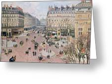 Afternoon Sun In Winter Greeting Card by Camille Pissarro