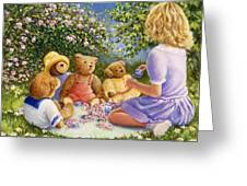 Afternoon Tea Greeting Card by Susan Rinehart
