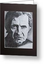 Aging Johnny Cash Greeting Card by Mikayla Henderson