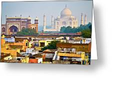 Agra Rooftop Greeting Card by Derek Selander