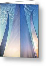 Air Force Memorial Greeting Card by JC Findley
