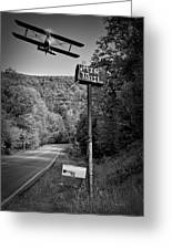 Air Mail Delivery Maine Style Greeting Card by Bob Orsillo