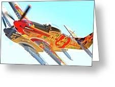 Air Racing Reno Style Greeting Card by Gus McCrea