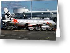 Airbus A320-232 Greeting Card by Tim Beach