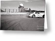 Airfield Drifting Greeting Card by Andy Smy