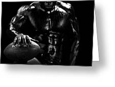 Al Fotball Black and White 1 Greeting Card by Val Black Russian Tourchin