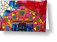 Alamo Mosaic Two Greeting Card by Patti Schermerhorn