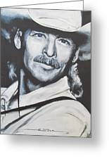 Alan Jackson - In The Real World Greeting Card by Eric Dee