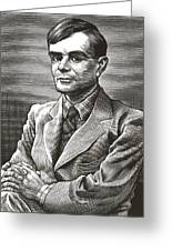 Alan Turing, British Mathematician Greeting Card by Bill Sanderson